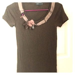 🌺3 for $10🌺 Jcrew embellished tee small